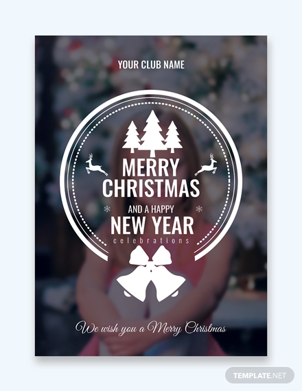 photo christmas greeting card design