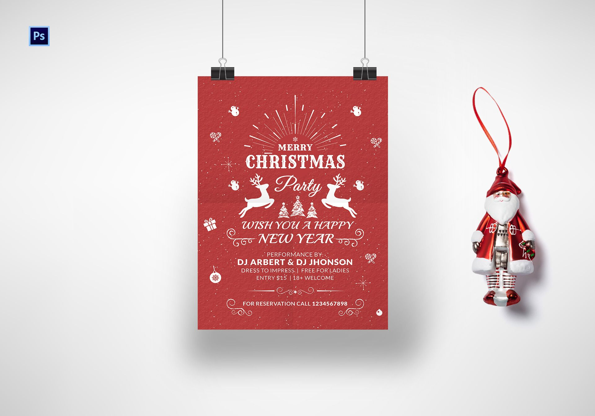 printable christmas and new year poster