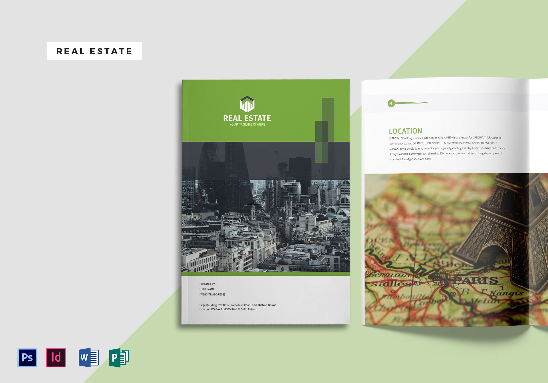 real estate magazine template