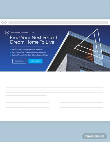 real estate website header