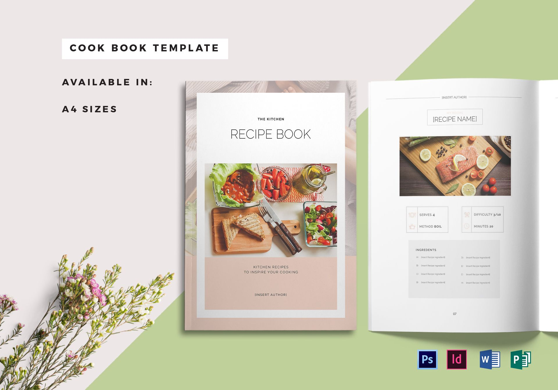 recipe book cover template1
