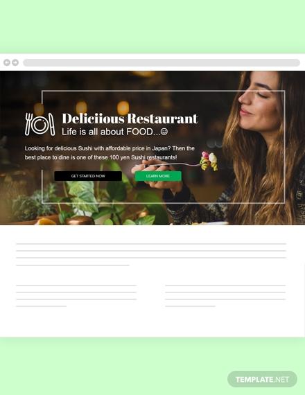 restaurant blog header design
