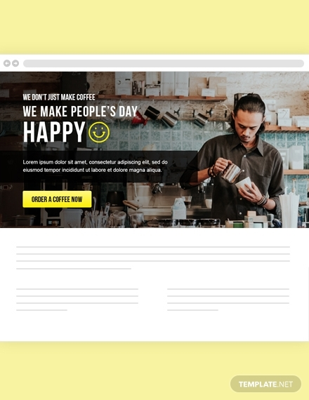 restaurant website header