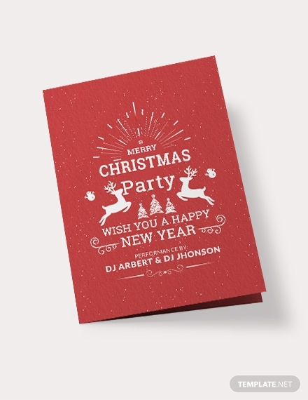 retro christmas bi fold brochure