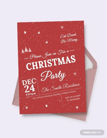 retro christmas invitation