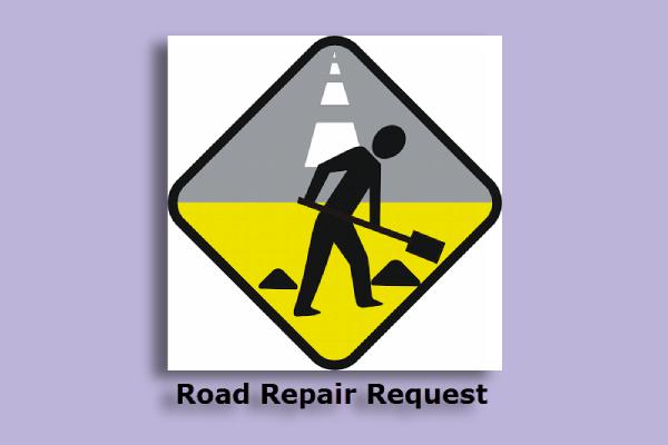 road repair sign