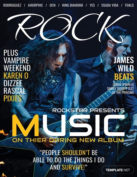 rock music magazine cover