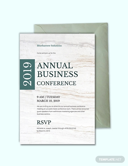 sample business conference invitation