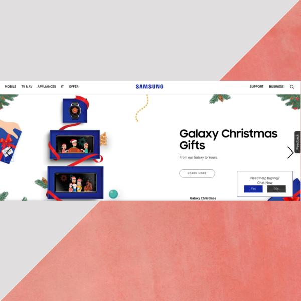 samsung christmas website header