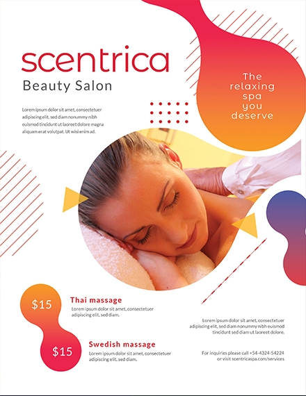 scentrica beauty spa flyer