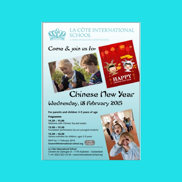 school chinese new year flyer