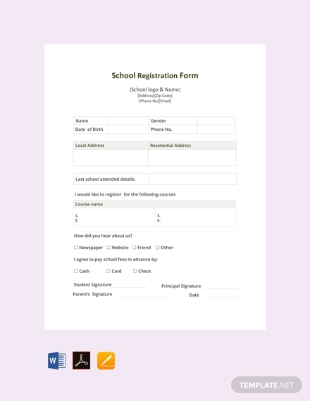 school registration form1