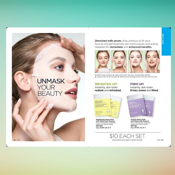 sheet masks beauty care flyer