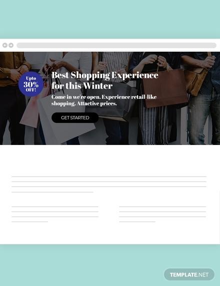 shopping website header