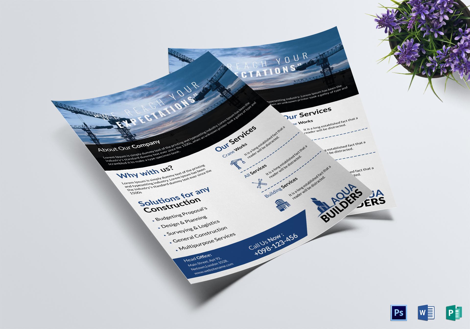 Simple Construction Company Flyer