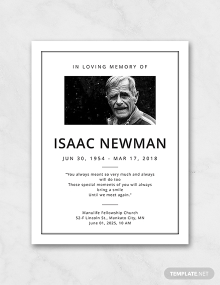 simple funeral program template1