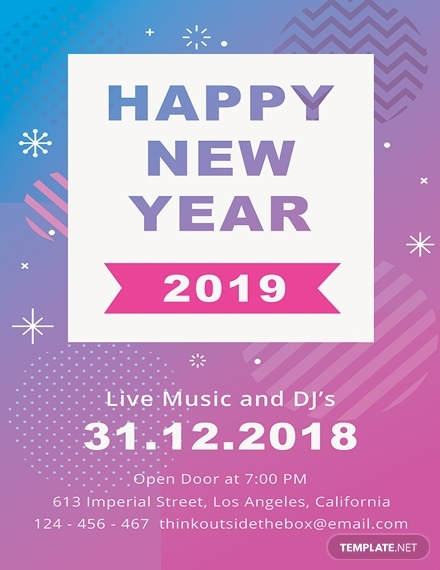 simple new year poster