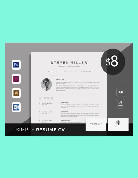 simple resume cv template