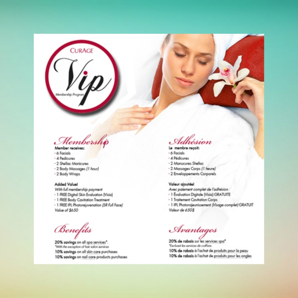 skin beauty care flyer
