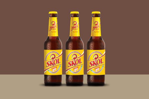 skol beer label