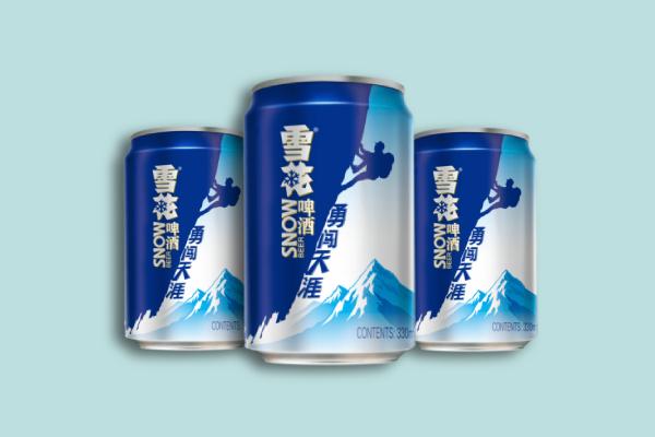 snow beer label