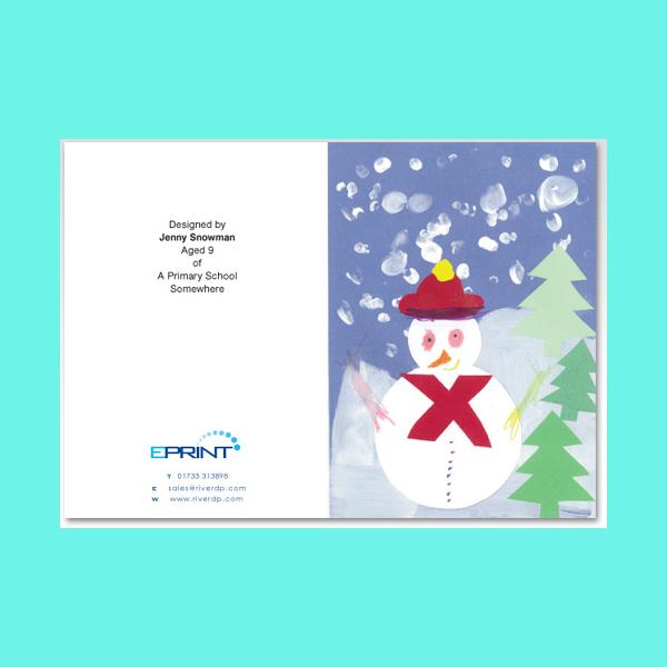 snowman christmas postcard