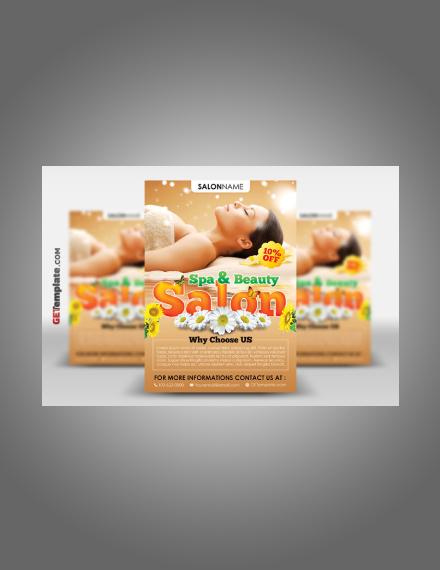 spa and beauty salon flyer