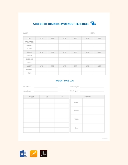 strength training workout schedule
