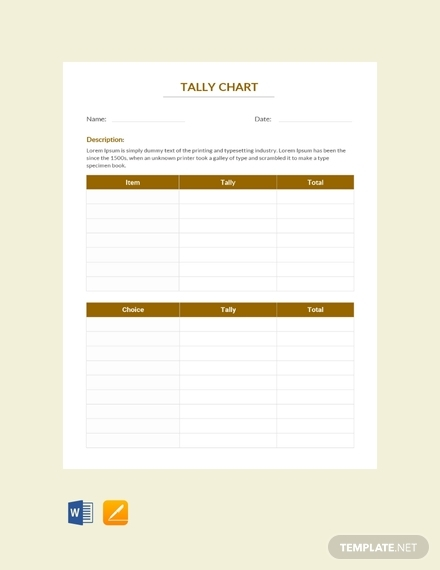 tally chart template
