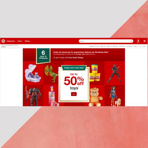target website header