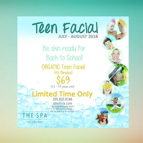 teen facial promotion beauty care flyer