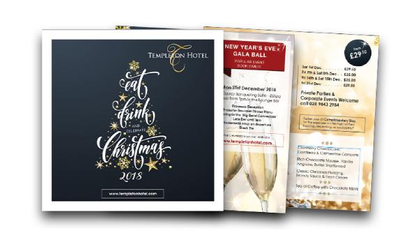 templeton hotel christmas brochure