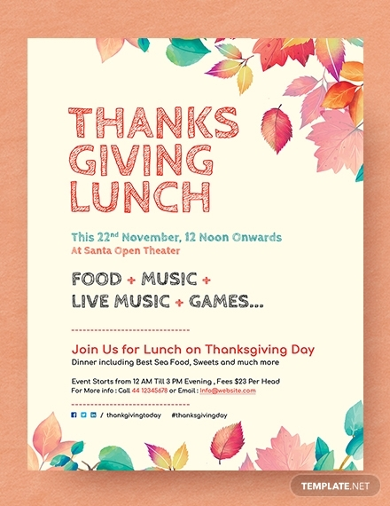 thanksgiving lunch flyer