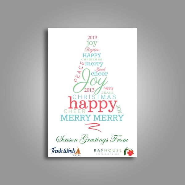 trade winds hotel new year card