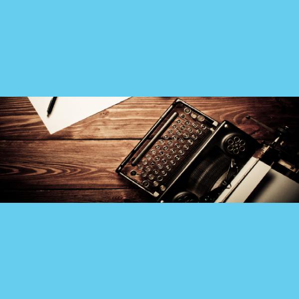 typewriter blog header