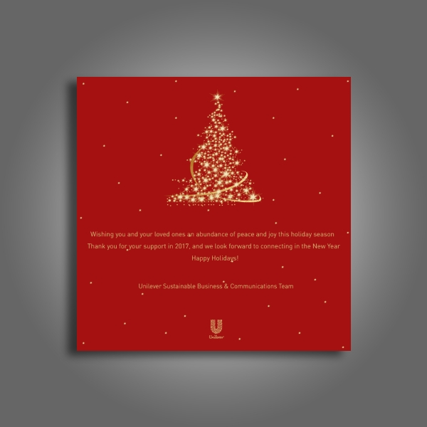unilever thank you christmas card
