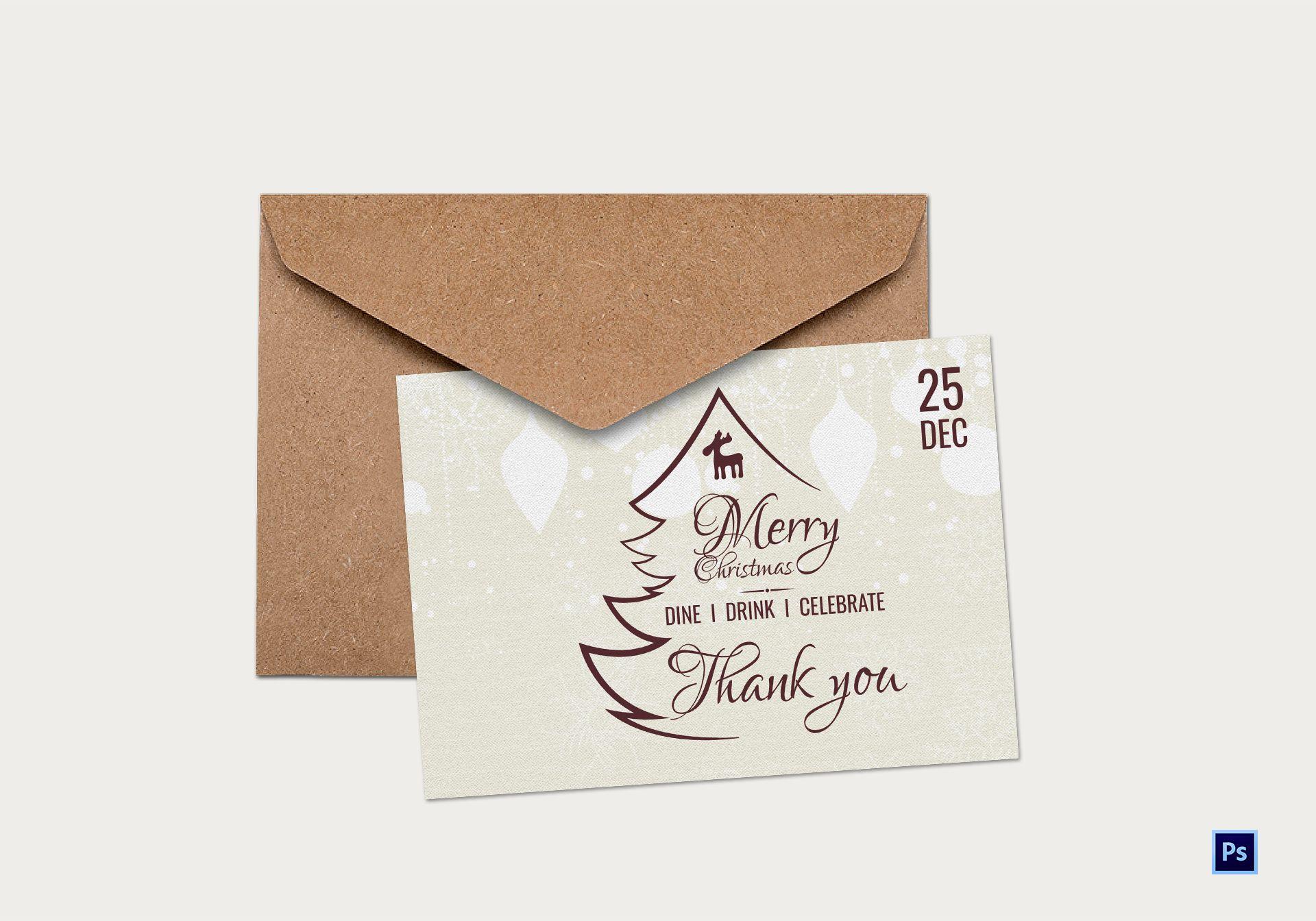 vintage christmas thank you card1