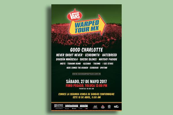 warped tour mexico poster
