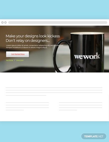 web design agency website header