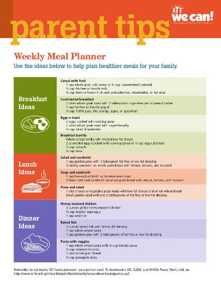 weekly meal planner