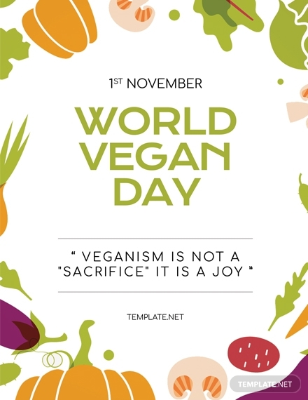 world vegan day greeting card design