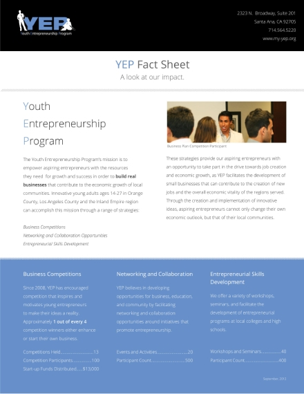 youth entrepreneur program fund fact sheet
