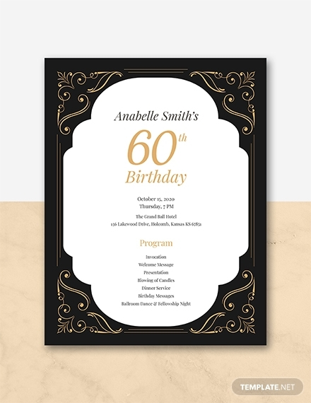 60th birthday program