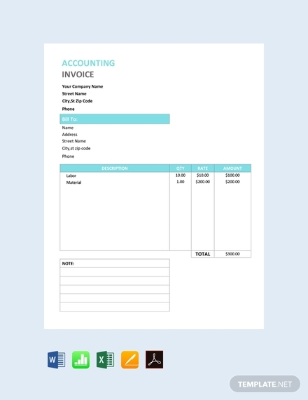accounting service invoice