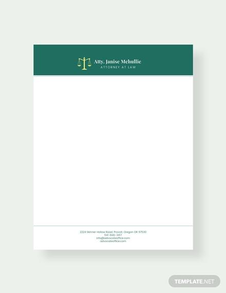 advocate letterhead