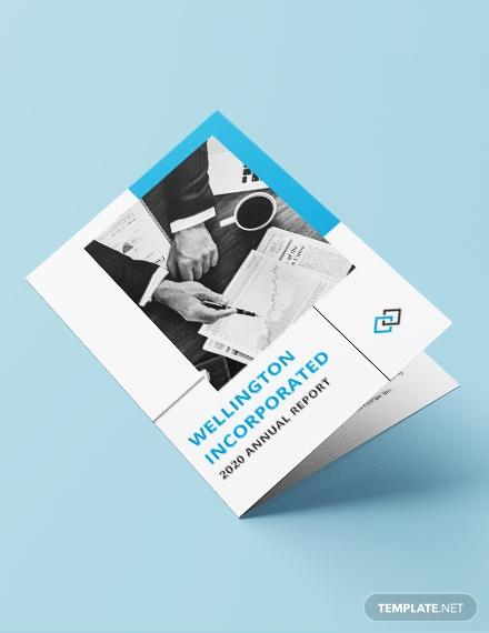 annual report bi fold brochure