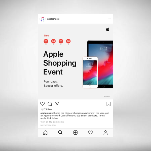 apple music instagram ad