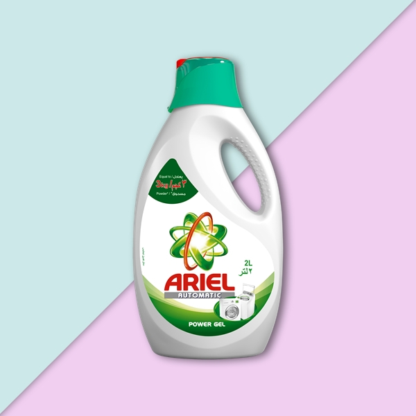 ariel automatic power gel label