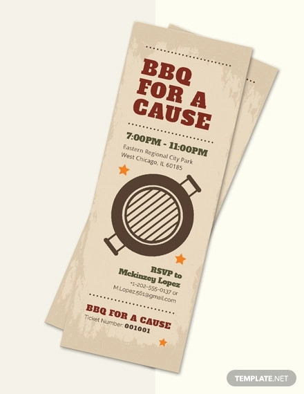 bbq fundraiser ticket template1