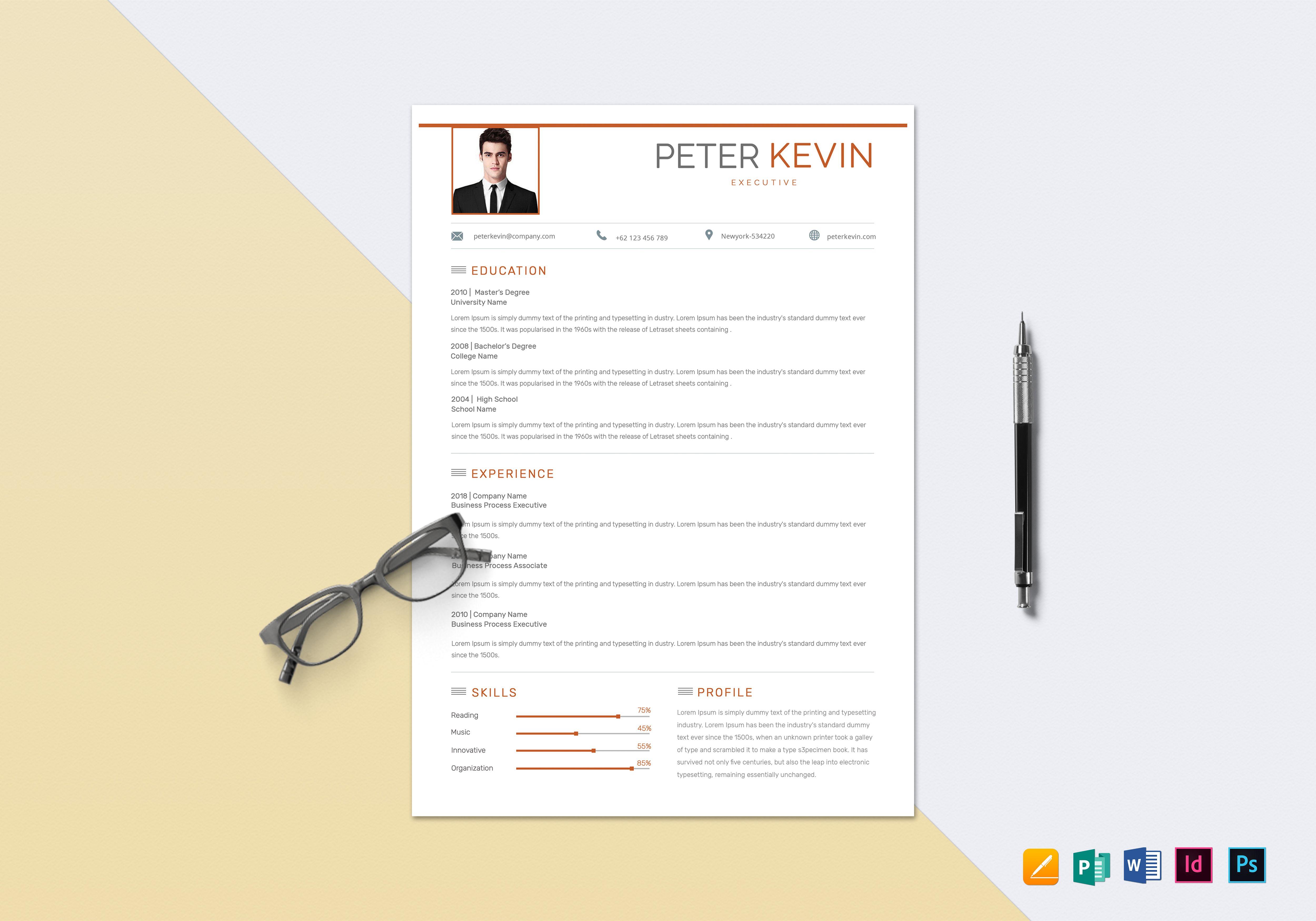 bpo executive resume template